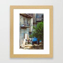 Hang-Drying Laundry Framed Art Print