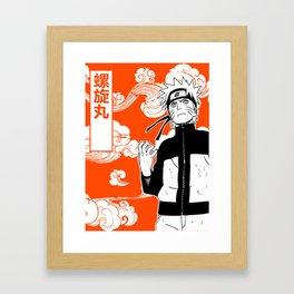 ninja anime orange Framed Art Print