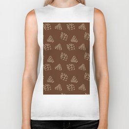 the pyramids and cubes on a brown background . artwork Biker Tank