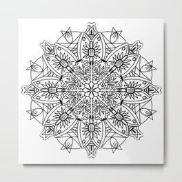 Abstract tribal design Metal Print