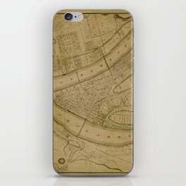 Map Of Pittsburgh 1830 iPhone Skin