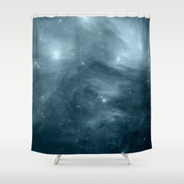 Galaxy : Pleiades Star Cluster NeBula Steel Blue Shower Curtain