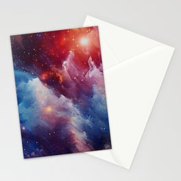 Misterious Space Stationery Cards