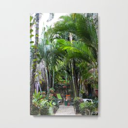 Dreamy Jungle Garden Metal Print