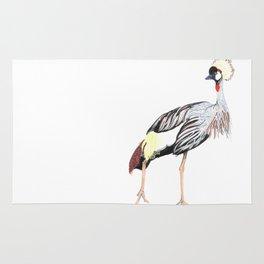 crowned crane Rug