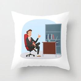 Big Boss National Boss Day Throw Pillow