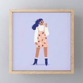 Pizza Babe Framed Mini Art Print