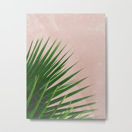 Summer Time | Palm Leaves Photo Metal Print