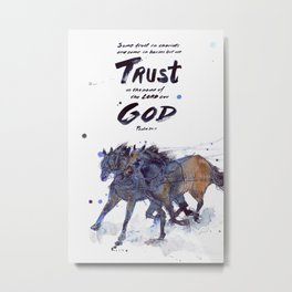 Horses & Chariots (Trust in God) Metal Print