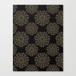 Boho Flourish Ornamental Arabesque Canvas Print