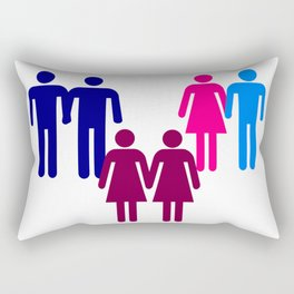 LGBT Couples Rectangular Pillow