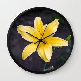 Yellow Lily Wall Clock