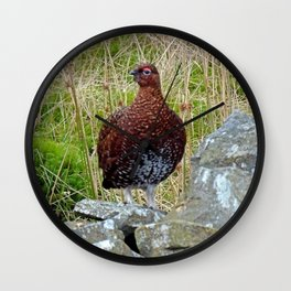 Red Grouse Wall Clock
