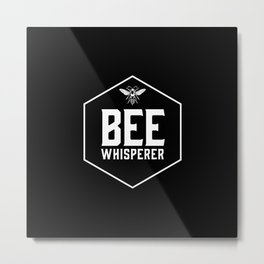 Bee Whisperer Metal Print