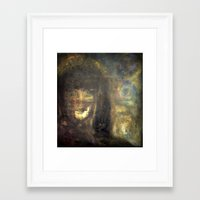 imagerybydianna Framed Art Prints featuring reina, of moon and paper by Imagery by dianna