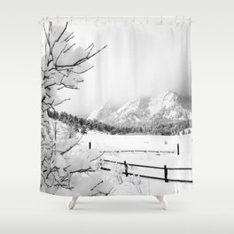 Dusted Flatirons Shower Curtain
