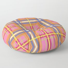 Perfect Pink Plaid Floor Pillow