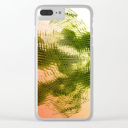 Mark Making with Olive Greens on Tangerine Clear iPhone Case