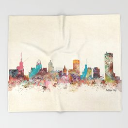 buffalo city new york  Throw Blanket