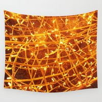 the lights Wall Tapestries featuring Lights by Yukska