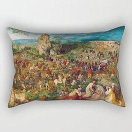 The Procession to Calvary by Pieter Bruegel the Elder (1564) Rectangular Pillow