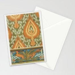 Aigles et chne papier peint Antilopes tigres cactus et palmiers bordure from Lanimal dans la decorat Stationery Cards