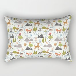 Funny Forest Map Rectangular Pillow