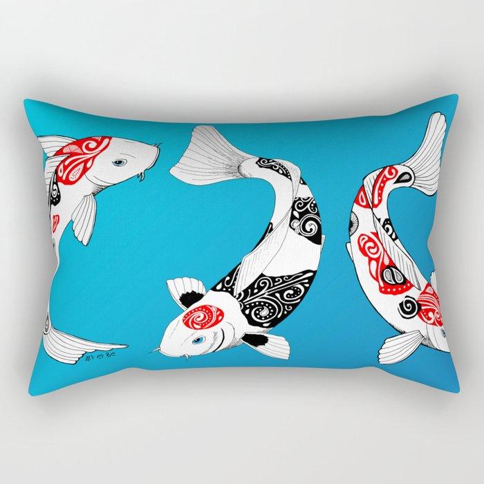 3 Koi fish Rectangular Pillow