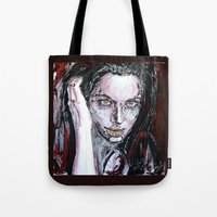 angelina jolie Tote Bags featuring Angelina Jolie by lisylight