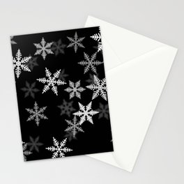 Black and White Winter Stationery Cards