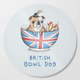 British Bowl Dog Cutting Board