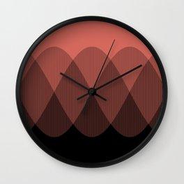 Orange cream ombre signal Wall Clock