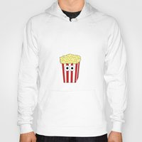 movies Hoodies featuring I HATE MOVIES by Laura Maria Designs