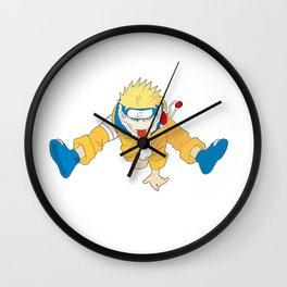 Naruto Jumping Wall Clock
