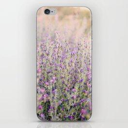 Purple flowers iPhone Skin