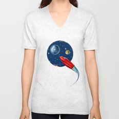 rockets in traffic Unisex V-Neck
