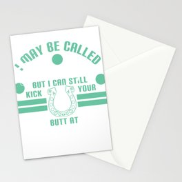 """I May be Called Grandpa, But I Can Still Kick Your Butt at Horseshoes"" Funny and hilarious tee! Stationery Cards"
