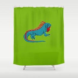The Phenomenal Iguana Shower Curtain