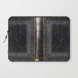 Black Antique Book Laptop Sleeve