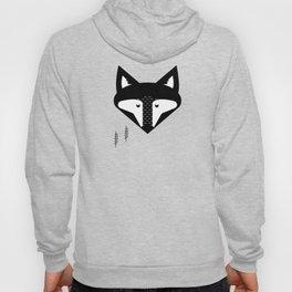 Scandinavian Fox Black And White Hoody