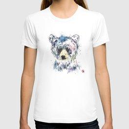Baby Black Bear Watercolor Painting T-shirt