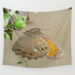Meadow Brown Butterfly Feeding On Aphids Wall Tapestry