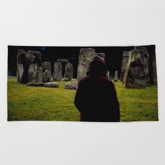 Druid Princess of Stonehenge Beach Towel