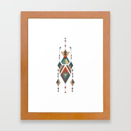 Vintage ethnic tribal aztec ornament Framed Art Print