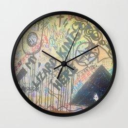 Lizard King Morrison Graffiti Room 32 Wall Clock