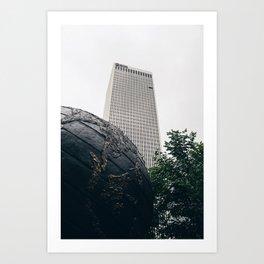 Williams Tower Courtyard - Tulsa Art Print