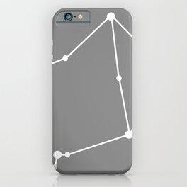 Libra (White & Gray) iPhone Case