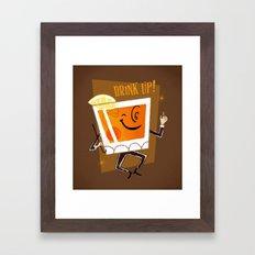 Mr. Whiskey Says Drink Up Framed Art Print