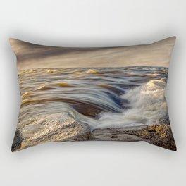 Where The River Kisses The Sea Rectangular Pillow