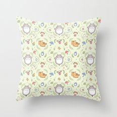 Neighborly Creatures Throw Pillow